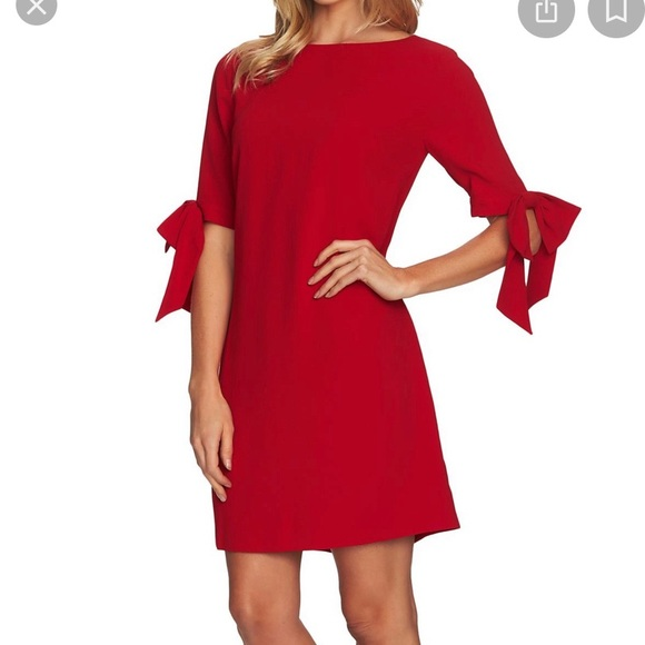 CeCe Dresses & Skirts - CeCe Red Ribbon Dress